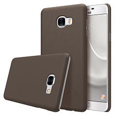 Housse Plastique Rigide Mat M08 pour Samsung Galaxy C7 SM-C7000 Marron