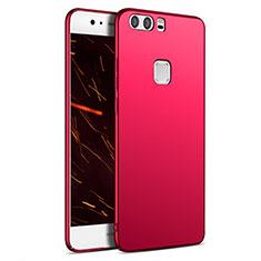 Housse Plastique Rigide Mat M09 pour Huawei P9 Rouge