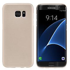Housse Plastique Rigide Mat M10 pour Samsung Galaxy S7 Edge G935F Or