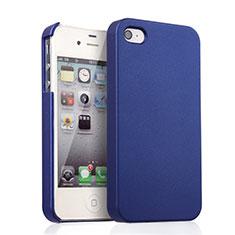 Housse Plastique Rigide Mat pour Apple iPhone 4 Bleu