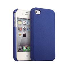 Housse Plastique Rigide Mat pour Apple iPhone 4S Bleu