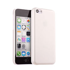 Housse Plastique Rigide Mat pour Apple iPhone 5C Blanc