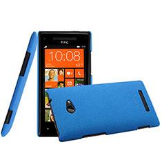 Housse Plastique Rigide Mat pour HTC 8X Windows Phone Bleu