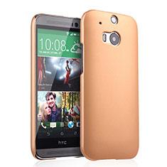 Housse Plastique Rigide Mat pour HTC One M8 Or