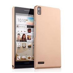 Housse Plastique Rigide Mat pour Huawei Ascend P6 Or