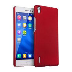 Housse Plastique Rigide Mat pour Huawei Ascend P7 Rouge
