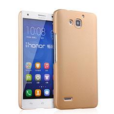 Housse Plastique Rigide Mat pour Huawei Honor 3X G750 Or