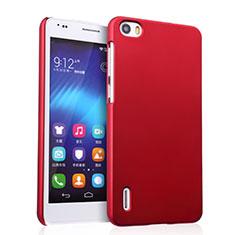 Housse Plastique Rigide Mat pour Huawei Honor 6 Rouge
