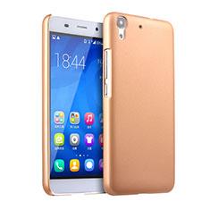 Housse Plastique Rigide Mat pour Huawei Y6 Or