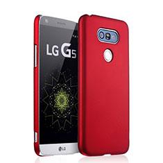 Housse Plastique Rigide Mat pour LG G5 Rouge