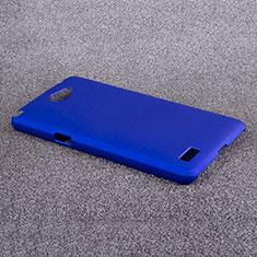 Housse Plastique Rigide Mat pour LG L Bello 2 Bleu