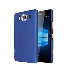 Housse Plastique Rigide Mat pour Microsoft Lumia 950 Bleu