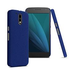 Housse Plastique Rigide Mat pour Motorola Moto G4 Plus Bleu
