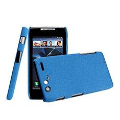 Housse Plastique Rigide Mat pour Motorola Razr XT910 Bleu