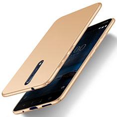 Housse Plastique Rigide Mat pour Nokia 8 Or