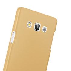 Housse Plastique Rigide Mat pour Samsung Galaxy A3 Duos SM-A300F Or
