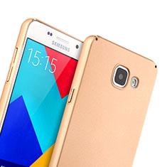 Housse Plastique Rigide Mat pour Samsung Galaxy A5 (2016) SM-A510F Or