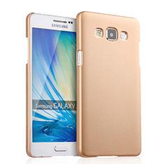 Housse Plastique Rigide Mat pour Samsung Galaxy A5 Duos SM-500F Or
