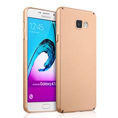 Housse Plastique Rigide Mat pour Samsung Galaxy A7 (2016) A7100 Or