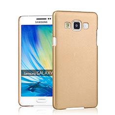 Housse Plastique Rigide Mat pour Samsung Galaxy A7 Duos SM-A700F A700FD Or