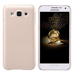 Housse Plastique Rigide Mat pour Samsung Galaxy E5 SM-E500F E500H Or