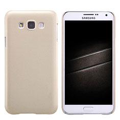 Housse Plastique Rigide Mat pour Samsung Galaxy E7 SM-E700 E7000 Or