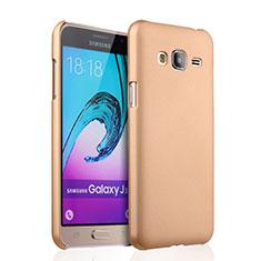 Housse Plastique Rigide Mat pour Samsung Galaxy J3 (2016) J320F J3109 Or