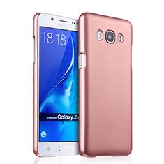 Housse Plastique Rigide Mat pour Samsung Galaxy J5 Duos (2016) Or Rose