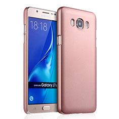 Housse Plastique Rigide Mat pour Samsung Galaxy J7 (2016) J710F J710FN Or Rose