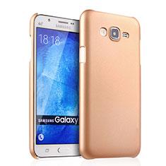 Housse Plastique Rigide Mat pour Samsung Galaxy J7 SM-J700F J700H Or
