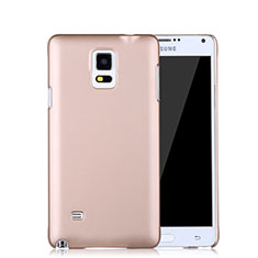 Housse Plastique Rigide Mat pour Samsung Galaxy Note 4 Duos N9100 Dual SIM Or Rose