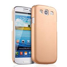 Housse Plastique Rigide Mat pour Samsung Galaxy S3 III LTE 4G Or