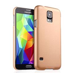 Housse Plastique Rigide Mat pour Samsung Galaxy S5 Duos Plus Or