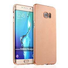 Housse Plastique Rigide Mat pour Samsung Galaxy S6 Edge+ Plus SM-G928F Or