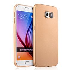 Housse Plastique Rigide Mat pour Samsung Galaxy S6 SM-G920 Or