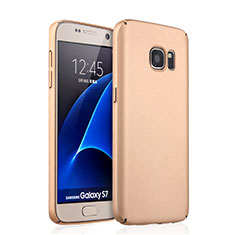 Housse Plastique Rigide Mat pour Samsung Galaxy S7 G930F G930FD Or