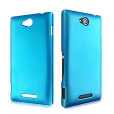 Housse Plastique Rigide Mat pour Sony Xperia C S39h Bleu Ciel
