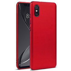 Housse Plastique Rigide Mat pour Xiaomi Mi 8 Screen Fingerprint Edition Rouge
