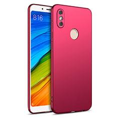 Housse Plastique Rigide Mat pour Xiaomi Redmi Note 5 AI Dual Camera Rouge