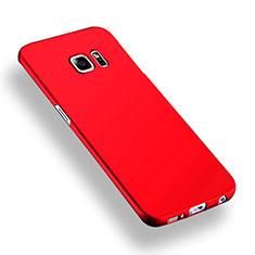 Housse Plastique Rigide Mat Q02 pour Samsung Galaxy S6 Edge+ Plus SM-G928F Rouge