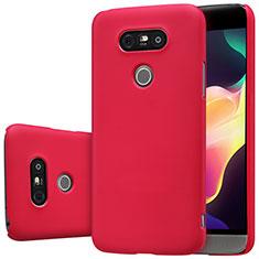 Housse Plastique Rigide Mat R01 pour LG G5 Rouge