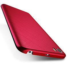 Housse Plastique Rigide Mat Serge pour Xiaomi Mi 5 Rouge