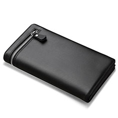 Housse Pochette Cuir Universel H06 pour Nokia 8110 2018 Noir