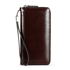 Housse Pochette Cuir Universel H11 pour Huawei Honor Magic 2 Marron
