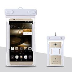 Housse Pochette Etanche Waterproof Universel pour Huawei Enjoy 9 Plus Blanc