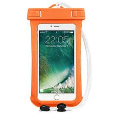 Housse Pochette Etanche Waterproof Universel pour Xiaomi Mi 8 Screen Fingerprint Edition Orange