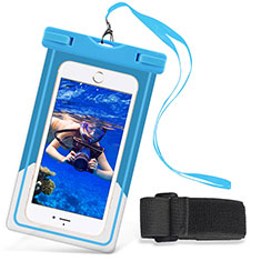 Housse Pochette Etanche Waterproof Universel W03 pour Wiko Cink Peax 2 Bleu Ciel