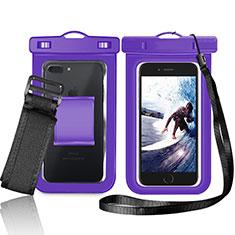 Housse Pochette Etanche Waterproof Universel W05 pour Xiaomi Mi 8 Screen Fingerprint Edition Violet
