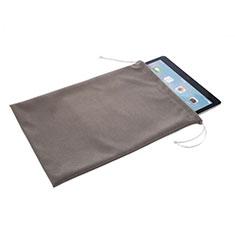 Housse Pochette Velour pour Samsung Galaxy Tab E 9.6 T560 T561 Gris