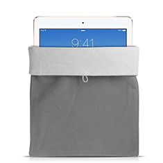 Housse Pochette Velour Tissu pour Huawei Mediapad Honor X2 Gris